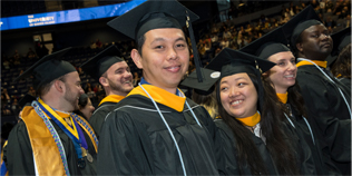 URI students at graduation